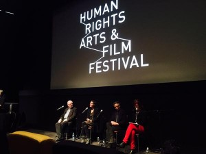 On the panel at the Human Rights Art and Film Festival