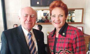 Pauline Hanson and John Howard